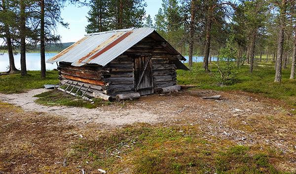 Den gamle koia ved Fuggsjøen